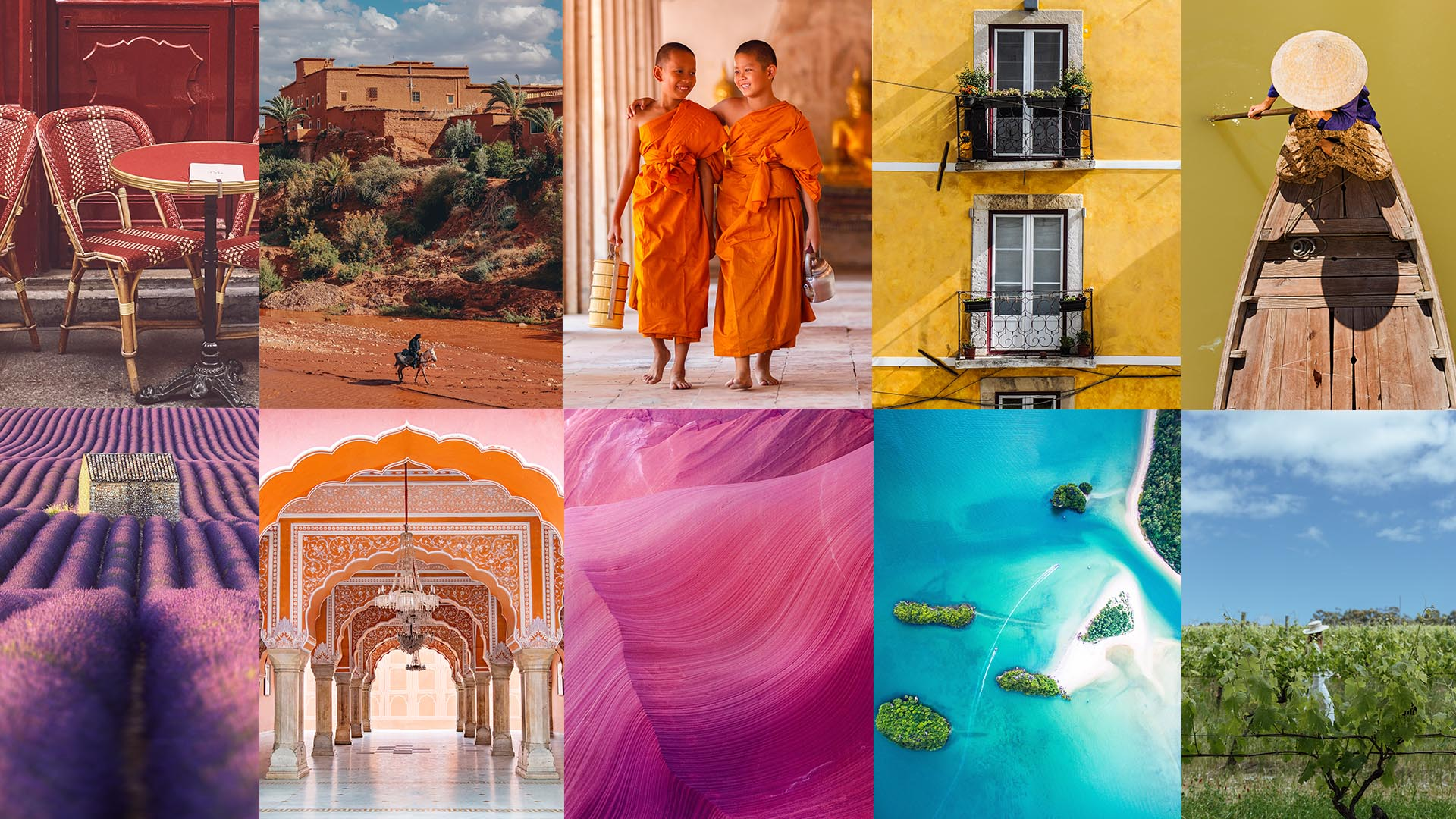 Travel by colour: a rainbow journey around the world